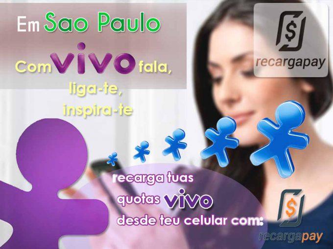 Recarga teu celular vivo desde a aplicacion em Sao Paulo
