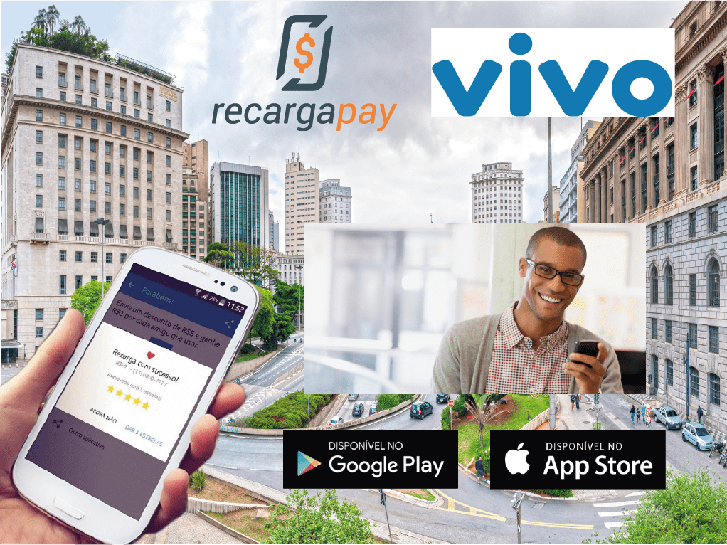 Novo aplicativo no São Paulo para recarregar seu saldo Vivo pela internet