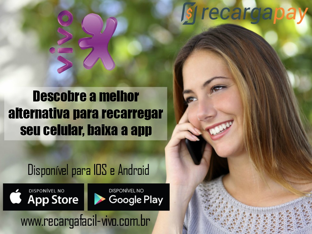 Aplicativo de celular para recarregar o saldo Vivo