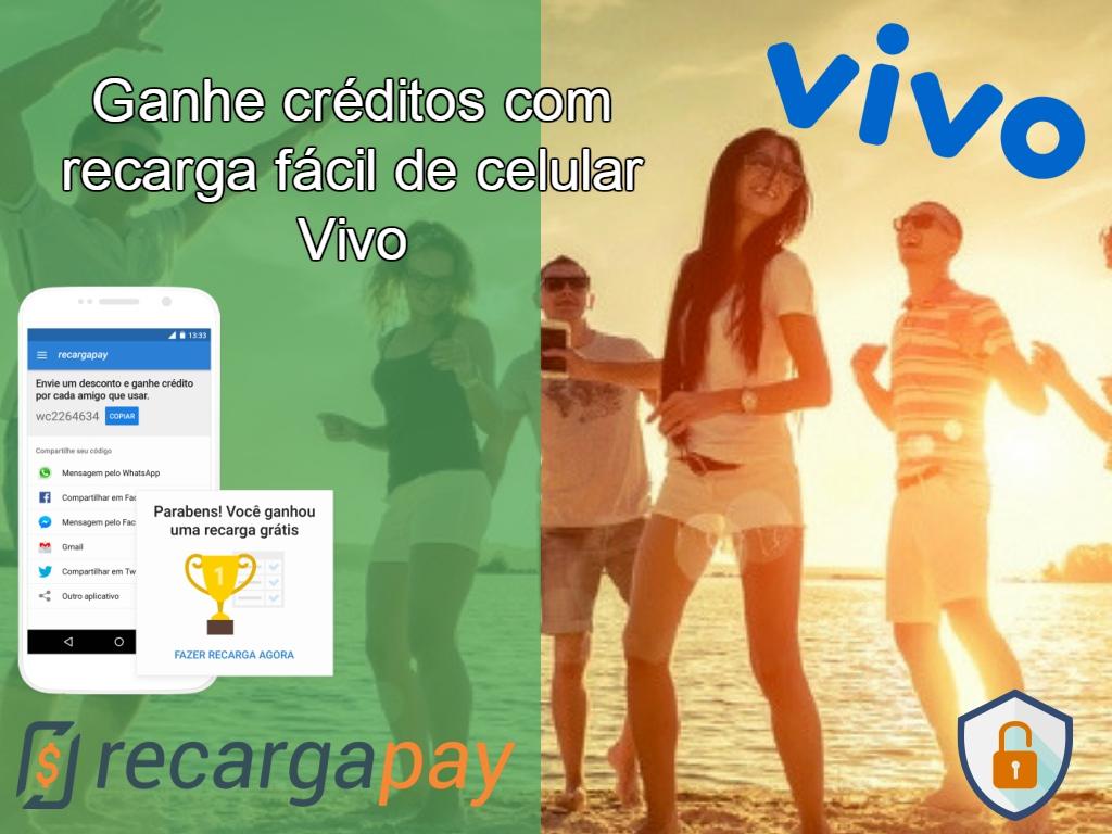 Ganhe prêmios fazendo recarga online Vivo