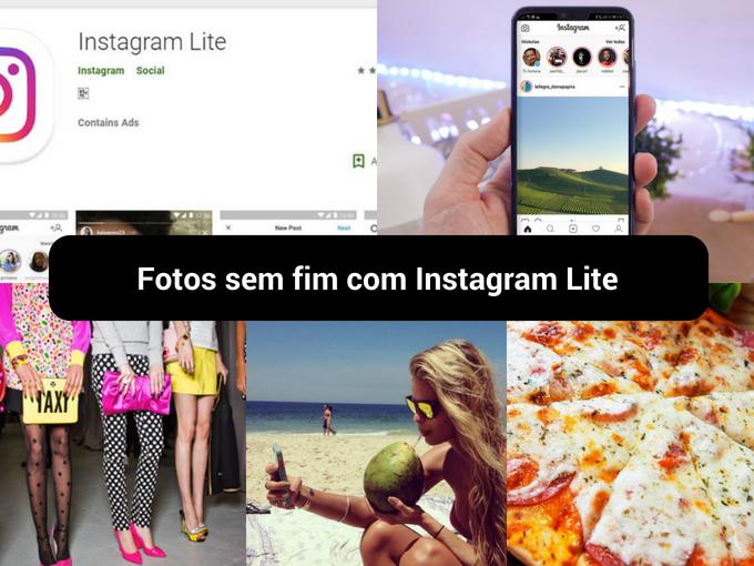 Instagram agora pode ser baixado com menos peso