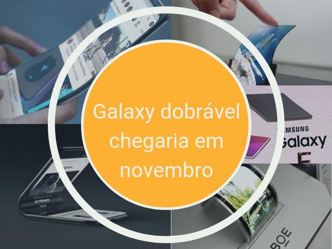Galaxy dobrável chegaria em novembro