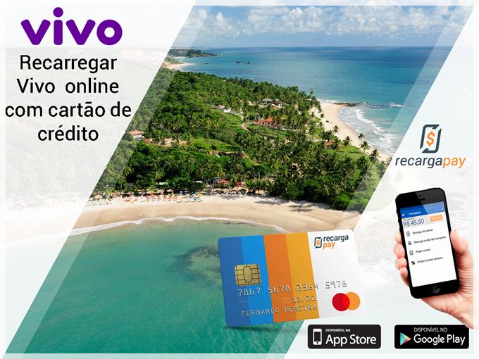 Recarregar Vivo online - Pagamento com cartão de crédito