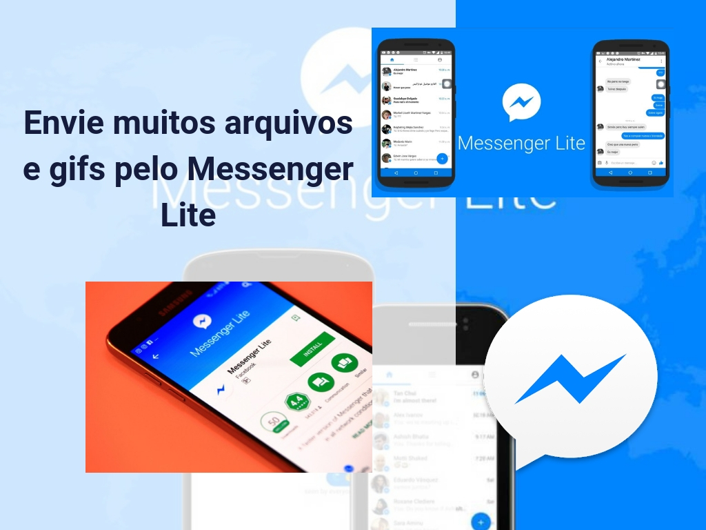 Envie muitos arquivos e gifs pelo Messenger Lite