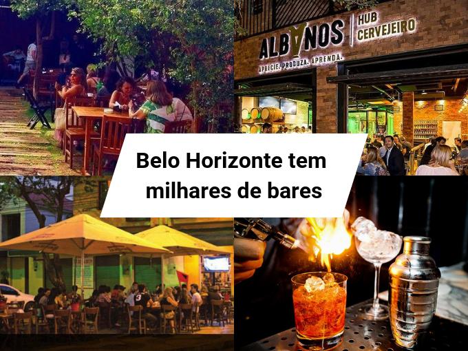 A cidade de BH possui o maior número de bares do país